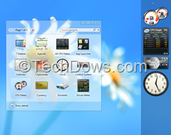 desktop gadgets and sidebar in Windows 8