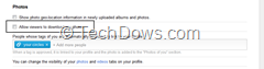 restrict others from downloading Google plus photos