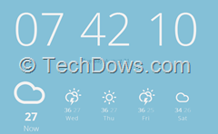 weather, date and time on Chrome New tab page