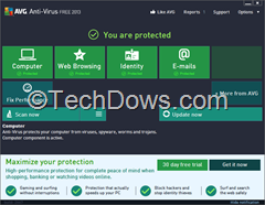 AVG 2013 user interface thumb AVG Free Antivirus 2013 Review