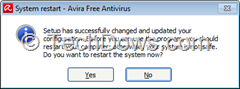 Avira warning system restart