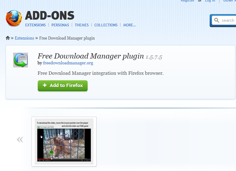 Free Download Manager Plugin Now Available On Mozilla Add