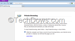 Friefox private browsing