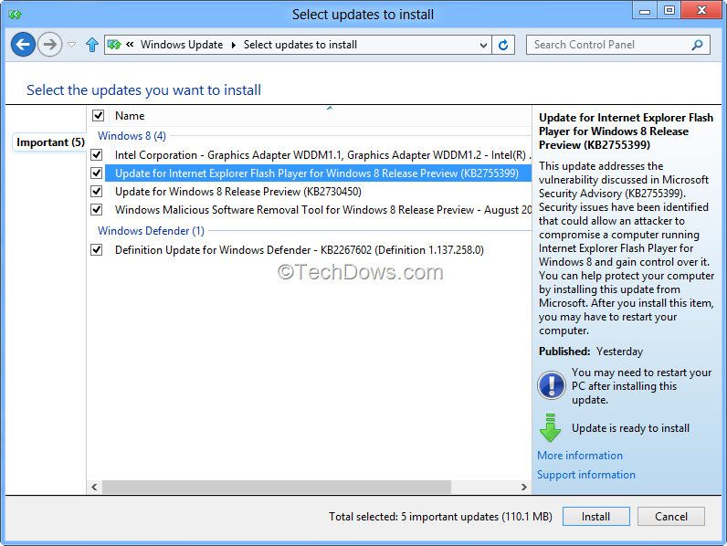 How to Update Internet Explorer 10 Flash Player in Windows 8