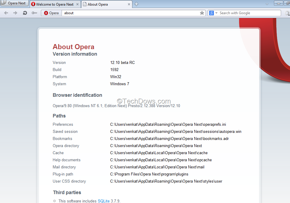 Opera updates for mac os