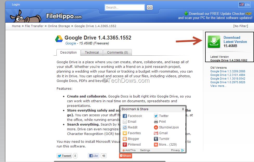 installez google drive sur le bureau
