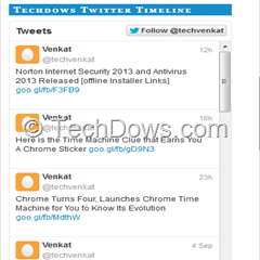 interactive embed Twitter timeline