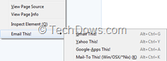 Email This item on Context menu