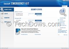 Emsisoft Emergency Kit 3.0 Scanner UI