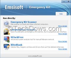 Emsisoft Emergency Kit 3.0 main window