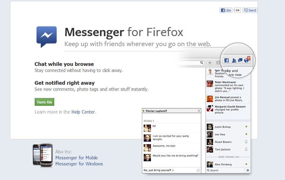 How to Use Facebook Messenger for Firefox