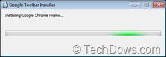 Google toolbar installing Chrome frame