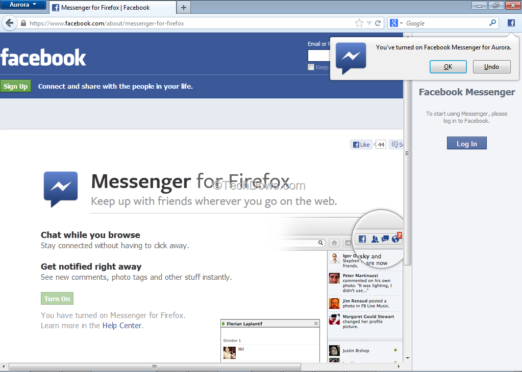 Turn on Facebook Messenger for Firefox and Test It Right Now