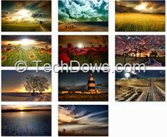 Windows 7 spectacular skies theme wallpapers