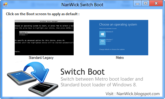Get Windows 7 Style Boot Menu back for Windows 8 Dual boot