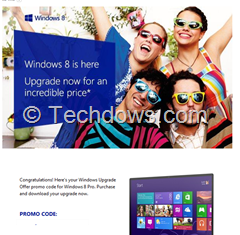 Windows 8 promo code thumb Upgrade to Windows 8 Pro for Just RS. 699 In India