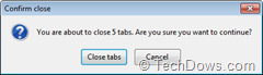 confirm close dialog due to Closing other tabs