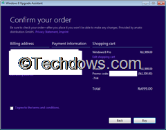 confirm order page thumb Upgrade to Windows 8 Pro for Just RS. 699 In India