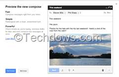 preview new Gmail compose