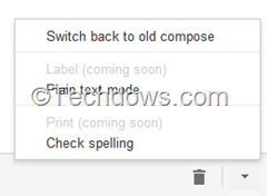 switch back to old gmail compose option