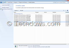 Windows Internet Explorer 10 listed under installed updates thumb How to Uninstall IE10 in Windows 7 that downgrades you to IE9 or IE8