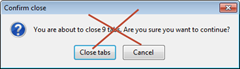 annoying confirm close dialog shown by Firefox when closing other tabs