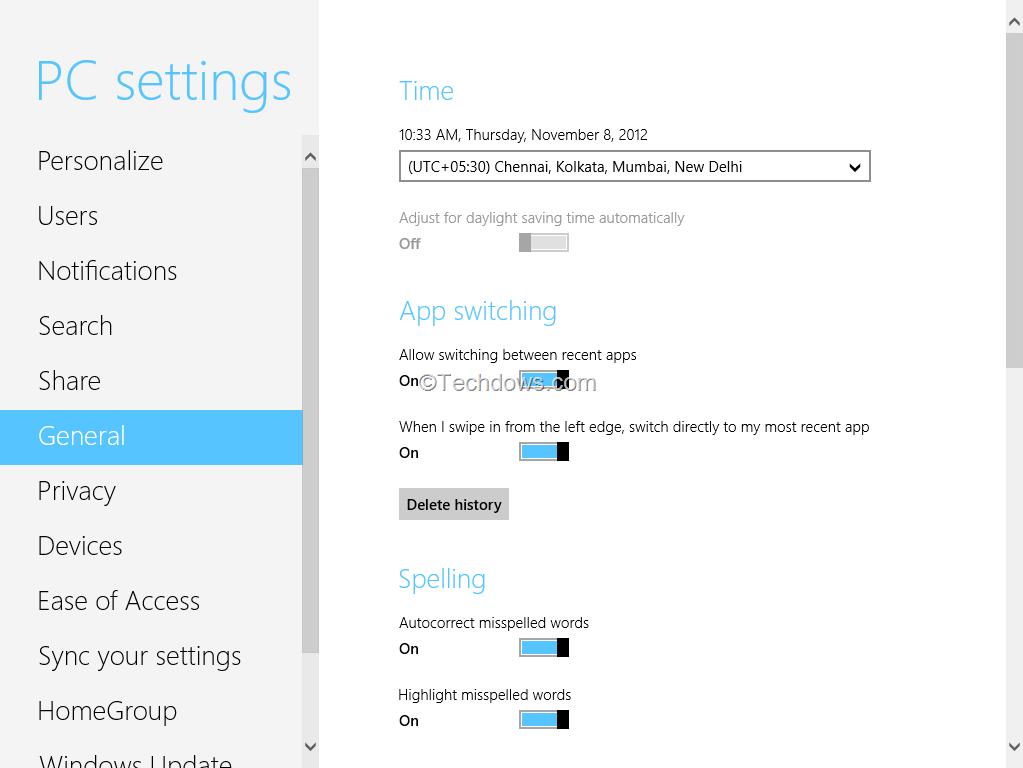 How To Clear History Of Windows 8 Store Apps