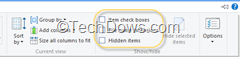 hidden items thumb How to Show Hidden files, Folders and File Extension Names in Windows 8