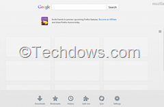 joined Firefox new tab page and Homepage