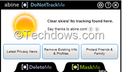 Abine DoNotTrackMe released