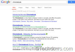Google search results with underlines