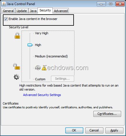 how to stop java updates windows 7