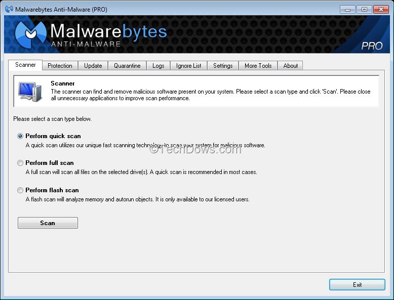 how to manually update malwarebytes database