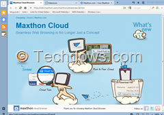 Maxthon version 4 is called as Cloud Browser