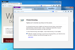 Private browsing mode opened in a different window without closing the current session