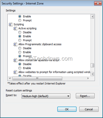 Disable javascript in chrome firefox opera and internet explorer disable active scripting to disable javascript in ie ccuart Gallery