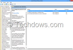 set windows 8 to do not display password reveal button