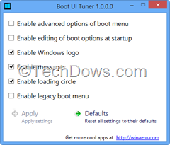 Boot UI Tuner for Windows 8
