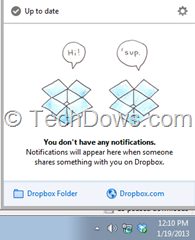 Dropbox to show real-time notifications for sharing events that happen inside your Dropbox
