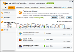 Software health Avast 8 Beta