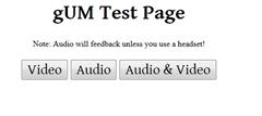 getuserMedia test page