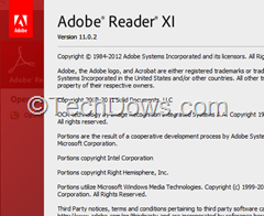 Adobe Reader XI version 11.0.2