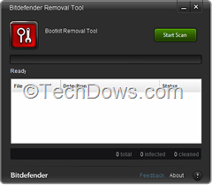 Bitdefender Remover tool for rootkits
