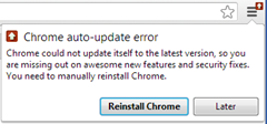 Chrome auto-udpate error
