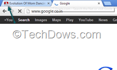 Chrome showing audio indicator in tab