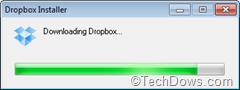 Dropbox web installer