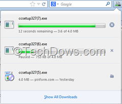 Panel based download manager in Firefox thumb How to disable Panel Based Download Manager in Firefox 20