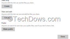 create link for doc to share in SkyDrive so that anyone can view and edit doc without sign-in
