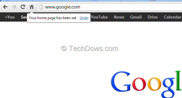 Chrome now lets you Set any URL as Homepage by dragging It onto Home