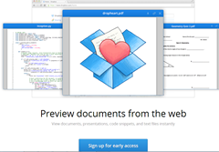 signup for  Dropbox Preview documents feature